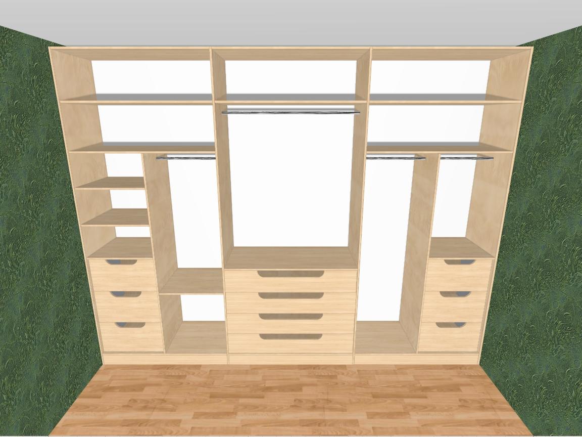 Шкаф купе трехстворчатый - идеи для дома.